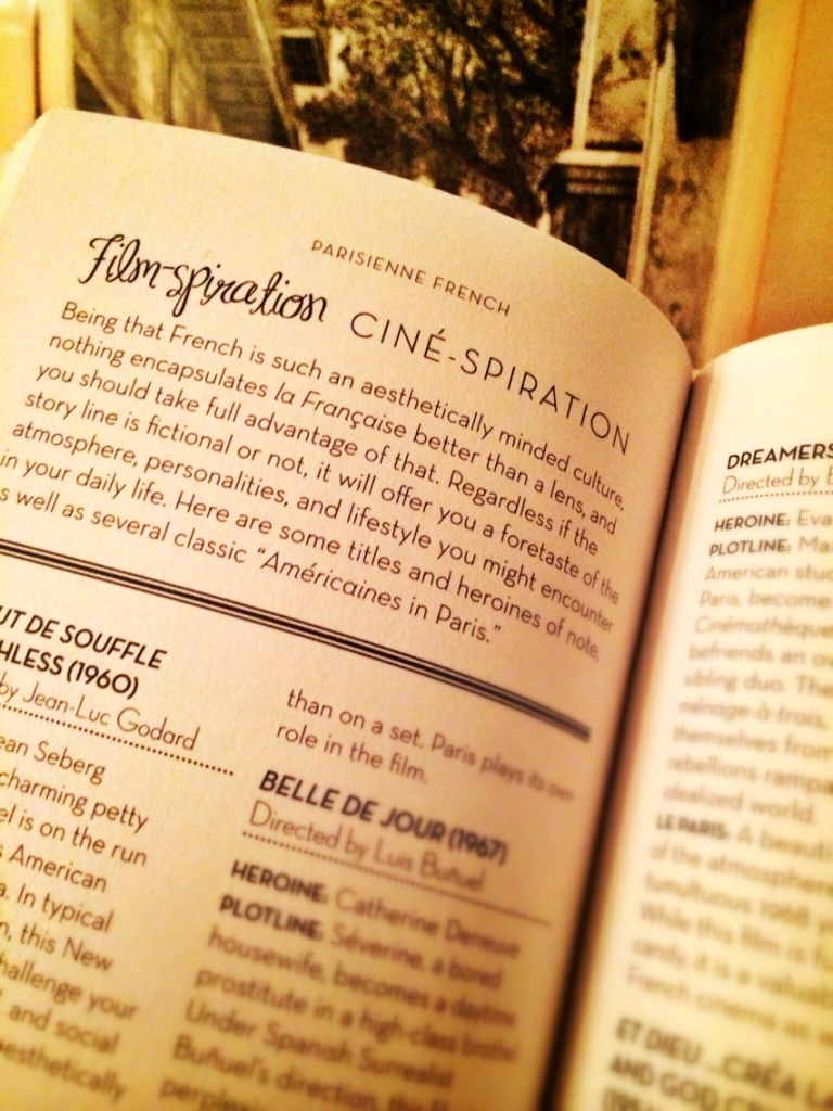 A peek inside the phrasebook Parisienne French